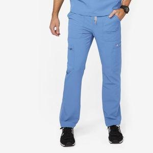 NWOT FIGS CAIRO CARGO Ceil Blue Scrubs Pants